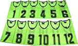 K sera sera ナンバー ビブス 6枚セット 12枚セット フットサル バスケ サッカー (グリーン 12枚セット, フリー)