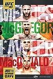 proframes UFC 189チャドMendes vs Conor McGregorスポーツフレーム入りポスター12 x 18 18x12 inches