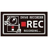 ハッピークロイツ カーステッカー ドライブレコーダー録画中 英語 黒 Lサイズ N02-L HZ2722