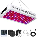 HONORSEN 1200W LED Grow Light Full Spectrum Double Switch Plant Light for Hydroponic Indoor Plants Veg and Flower (10W LEDs 1