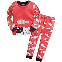 [Vaenait Baby]12ヶ月-9歳キッズ子供ベビー服綿100%ルームウェア長袖パジャマ寝間着上下セット