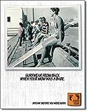 【Hang Ten-When Mom?】 ハン・テン サーフィン アメリカンブリキ看板