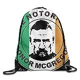 巾着バッグConor McGregor Irish Spiritナイロンホーム旅行スポーツストレージ One Size