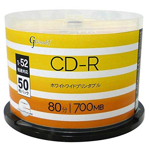 Good-J CD-R 700MB 1-52倍速50枚 デー...