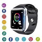 スマートウォッチ smart watch 多機能腕時計 Bluetooth通話機能搭載 健康モニタリング、情報ツイッター、スマート注意、モニタリング、睡眠分析、計略、オーディオ娯楽、社交娯楽、リモコン撮りなど 日本語説明書 (金) (銀)