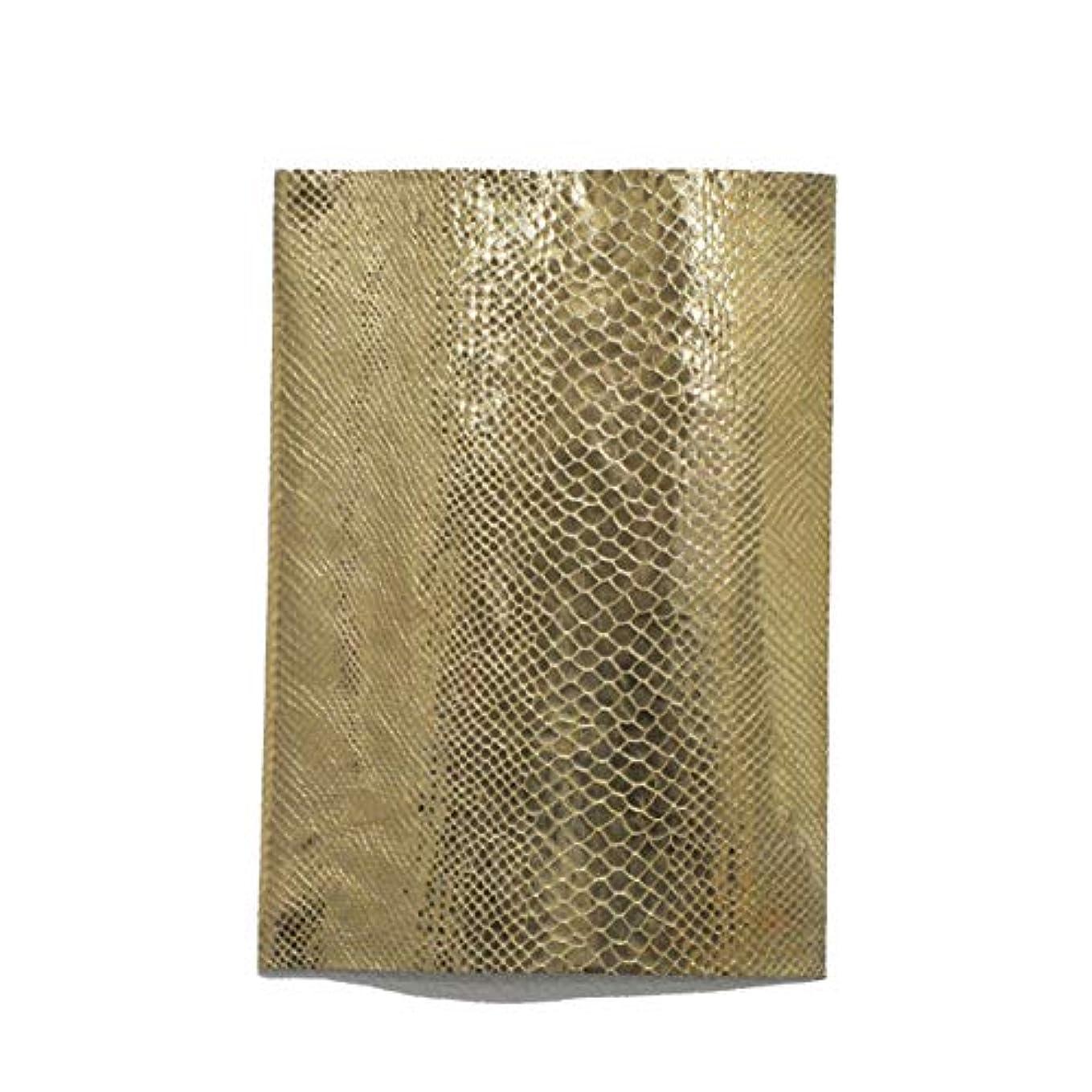 連邦バウンス中級TOKEN トーケン レザークラフト 材料 皮 革 日本産 羊革 シープ 箔型押し パイソン レザー 厚さ 約1.0mm?1.4mm(芯貼り有り) (GOLDパイソン, A4)