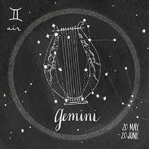 夜空ジェミニ - アーカイブ紙上のファインアートプリント - 小 : 61 cms X 61 cms