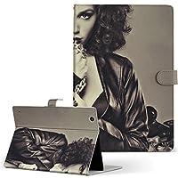 Lenovo TAB4 レノボ タブレット 手帳型 タブレットケース タブレットカバー カバー レザー ケース 手帳タイプ フリップ ダイアリー 二つ折り 女性 セクシー 写真 012690