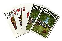 Medina、ニューヨーク–Apple Orchard and Truck ( Playingカードデッキ–52カードPokerサイズwithジョーカー)