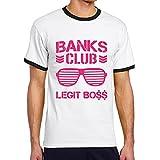 エッティ メンズ Sasha Banks Club Legit Boss Tシャツ Black