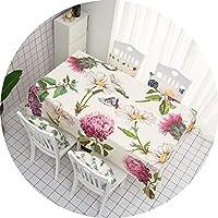 テーブルカバー ヨーロッパの牧歌的なスタイルのテーブルクロス、コットンと麻のファブリック長方形のテーブルカバー、防水アンチスカーディングオイル防止、ダイニングテーブルコーヒーテーブルドレッシングテーブル長方形のテーブル (サイズ さいず : 170 × 110cm)