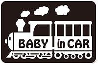 imoninn BABY in car ステッカー 【マグネットタイプ】 No.19 汽車 (黒色)