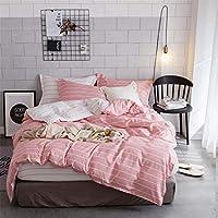 ストライプキルトカバー羽毛布団カバーセット,Pink,229 * 264