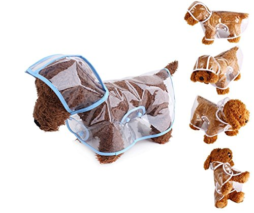 ペット服 犬服 犬用レインコート レインポンチョ 合羽 小型犬 中型犬 雨の日のお散歩に 梅雨時期に最適 防水 防雪 繰り返して使用できます