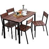 LOWYA (ロウヤ) テーブル チェア ダイニングテーブル ダイニングセット コンパクト 5点セット 幅110 4人掛け ウォルナット おしゃれ 新生活