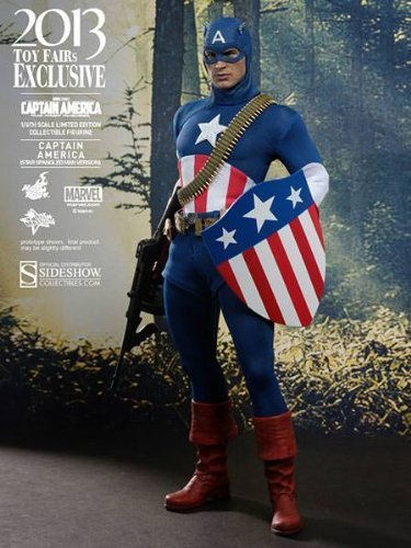 Captain America The First Avenger Hot Toys Exclusive 1/6 Scale Collectible Figure Captain America [Star Spangled Man Ver.] by Hot Toys [병행수입품]-