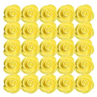 Sharplace フォーム 人工花の頭 人工ローズ 人工フラワー 造花 人工花 結婚式 ダンスパーティー 装飾花 13色選ぶ - 黄