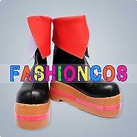 ★サイズ選択可★男性26.5CM UA0862 VOCALOID Project DIVA 2nd 巡音ルカ コスプレ靴 ブーツ
