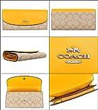 [コーチ] COACH 財布(長財布) F54022 ライトカーキ×カナリー ラグジュアリー シグネチャー PVC レザー スリム エンベロープ レディース [アウトレット品] [アウトレット品] [ブランド] [並行輸入品]