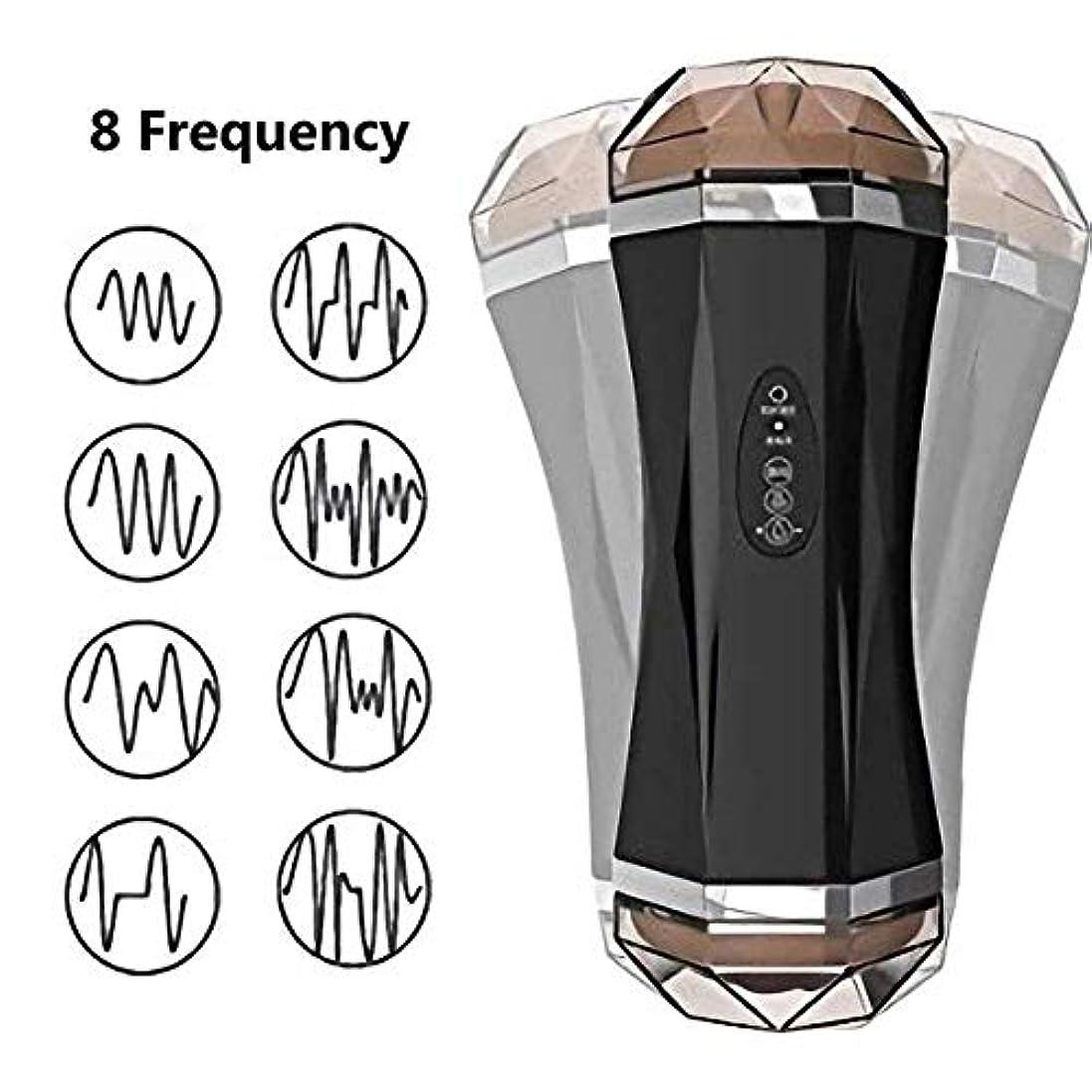 降ろすアクロバット受取人Jrtie- USB電気Tシャツ6おもちゃ2-in-1ハンズフリーディープスロートボイスインタラクティブオーラルカップエンドレスプレジャーヘッドフォンモード