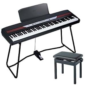 KORG SP-250BK ブラック + ピアノイス Bセット(高低自在イス)