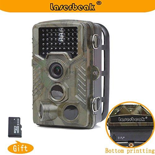 Laserbeakトレイルカメラ 2.4インチ液晶 12 MP1080P HD 120度PIRレンズ 防水IP56 ナイトビジョンのための46個の赤外線LEDが 狩猟モニターカメラ赤外線 人感センサー カメラ家庭用 監視カメラ8G TFカード(輸入品)