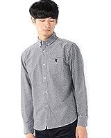 (コーエン) COEN ギンガムチェックオックスボタンダウンシャツ