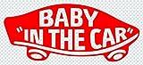 ステッカータウン VANS風 BABY IN THE CAR ベビーインカー B レッド