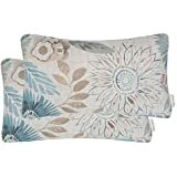 Mika Home Pack of 2 Decorative Oblong Rectangular Throw Pillow Cover Cushion Cases for Chair,Sunflower Pattern,12x20 Inches,