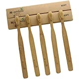 N-amboo 竹製 歯ブラシ 高耐久性 セット エコ ハンドル大きめ ベージュ (5本)