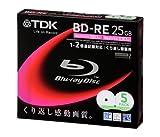 TDK 録画用ブルーレイディスク 25GB BD-RE(繰り返し録画用) 2X ホワイトワイドプリンタブル 5mmケース 5枚パック BEV25PWA5S
