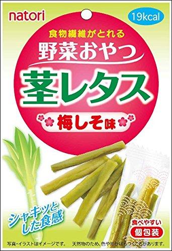 なとり 野菜おやつ 茎レタス 梅しそ味 16g