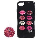 MS Products iPhone X用 Barbie/ポンポンチャーム付ハイブリットケース/リップLEPLUS LP-BI8HTRIP