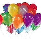 風船 カラフル ラウンドバルーン 100個 入 ゴム風船 パールカラー 大容量 36cm 結婚式 二次会 パーティー [HAPPY LAB]