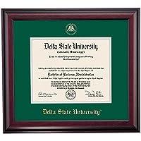 デルタ状態Statesmen卒業証書フレームグリーングレーエンボスマットシール