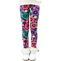 Toddler Kids Girls Pants Winter Thick Fleece Lined Christmas Leggings Tights