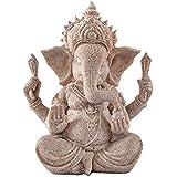 ROSENICE Elephant Statue Sculpture Sandstone Ganesha Buddha Handmade Figurine