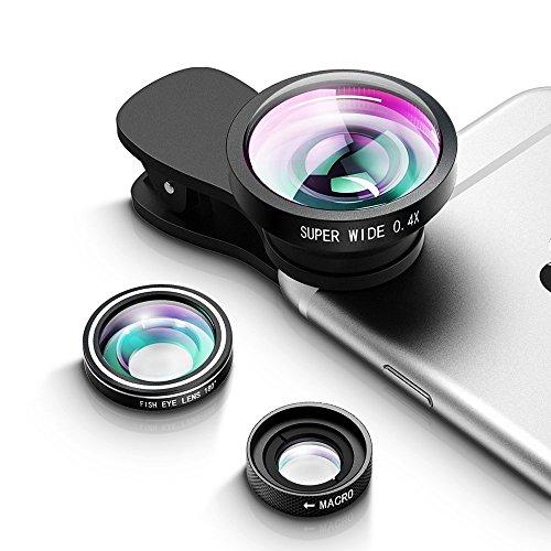 Qtop カメラレンズキット クリップ付きレンズ 3点セット(...