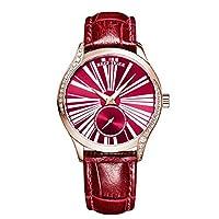 Reef Tiger ラグジュアリーファッションウォッチ レディース 本物のリーフストラップ ローズゴールド 自動巻き腕時計 RGA1561 RGA1561-PRR