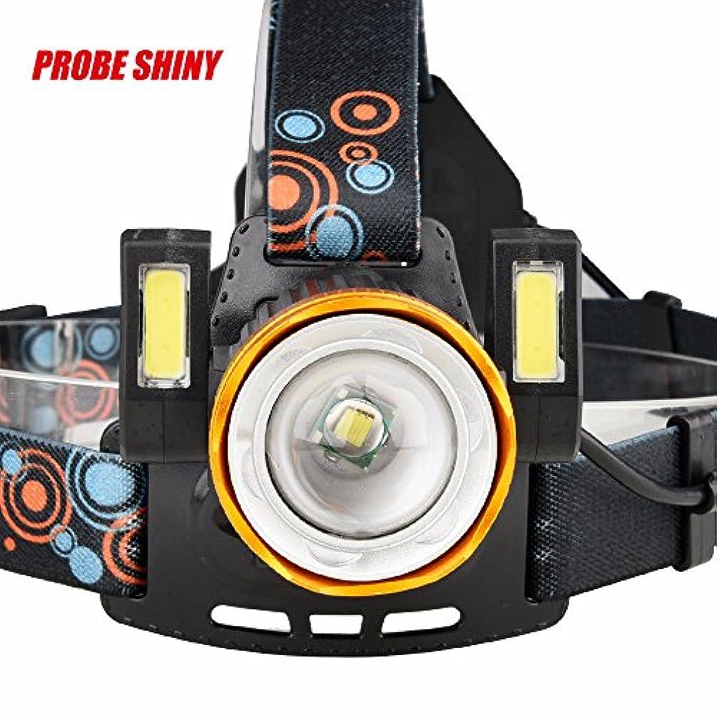 動脈観察するロードされた発信スタイルの楽しみ15000LM 1x XM-L T6 LED + 2xCOB充電式18650ヘッドランプヘッドライトトーチ