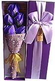 【kshop】 花 プレゼント 造花 クリスマス バレンタインデー ホワイトデー 父の日 母の日 誕生日 等 お祝い 時の プレゼント に最適 薔薇の花束 【 紫 5本 】