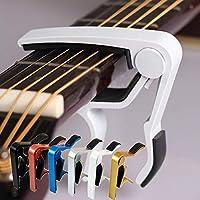 ワンタッチ ギター ギターカポカポ タスト エレキギター 軽量 (ホワイト)