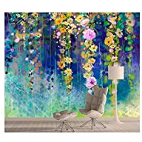 アイビーの花の壁画ロール - リビングルームのための壁紙壁画の壁紙3dウォールコンタクトペーパーペーパー家の装飾300cm(W)×210cm(H)