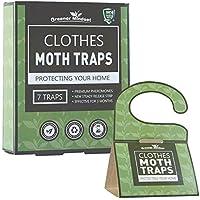 Clothes Mothトラップ7-pack withプレミアムPheromone Attractant  最も効果的なトラップ使用可能 非毒性セーフno殺虫剤  Greener Mindset
