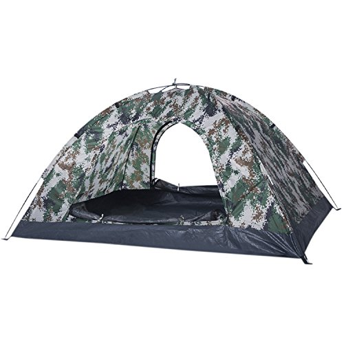 HUI LINGYANG 2人用テント キャンプ用品 設営簡単 防水加工 高通気性 紫外線防止 超軽量 登山 折りたたみ アウトドア 2色選択