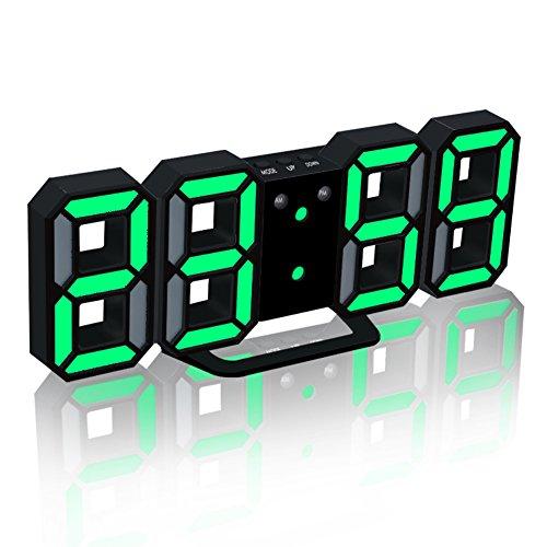 EAAGD電子LEDデジタル目覚まし時計 掛け時計、自動調節可能のLED明る...