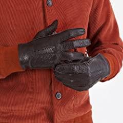 Melton Peccary Handsewn Gloves Unlined 15-1043: Bark