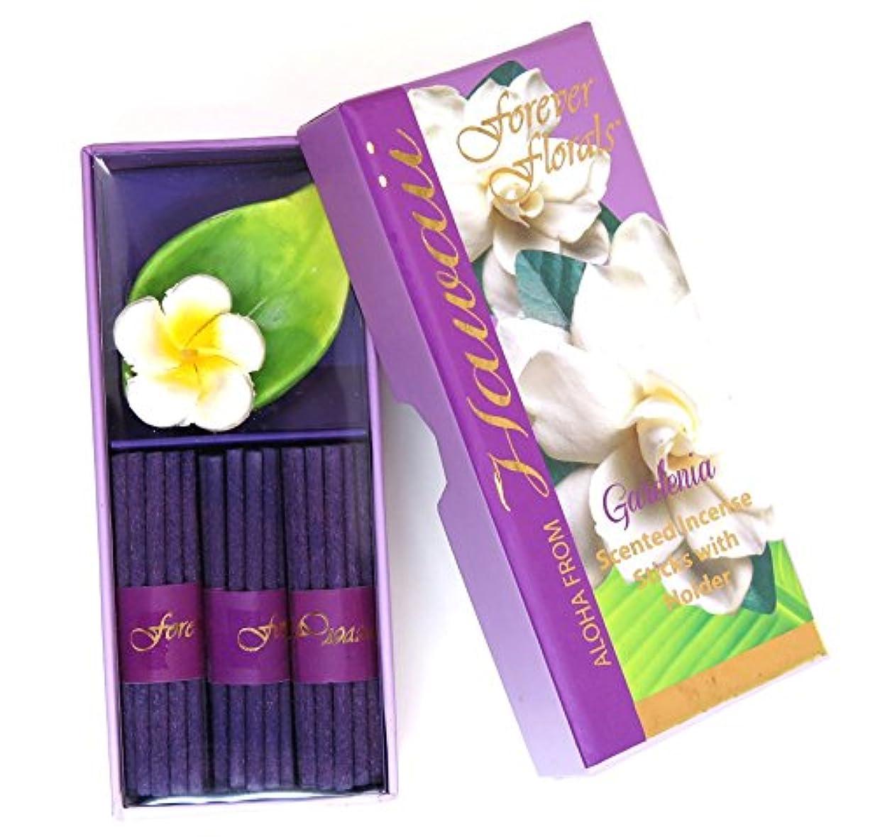 再開ゴミ箱を空にする朝ごはんハワイアン雑貨 ハワイ雑貨/Forever Florals ミニインセンスボックス お香 ガーデニア 【お土産】