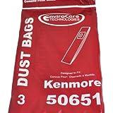 Kenmore 50651 直立型掃除機バッグ 3袋入り 3 Bags レッド 14119725