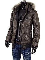 中綿 ジャケット ブルゾン メンズ 冬アウター シレジャケット フード キルティング ジャケット S251024-03